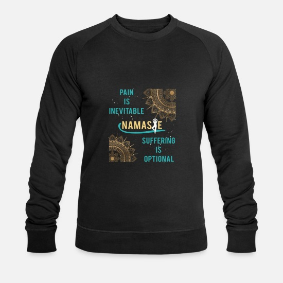 Méditation Sweat-shirts - Cadeau de méditation Namaste cool - Sweat-shirt bio Homme noir