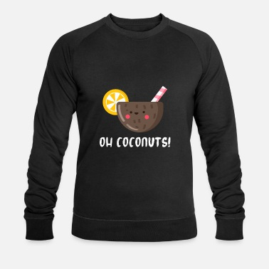 Fresh Palm Leaf coconut - Men's Organic Sweatshirt