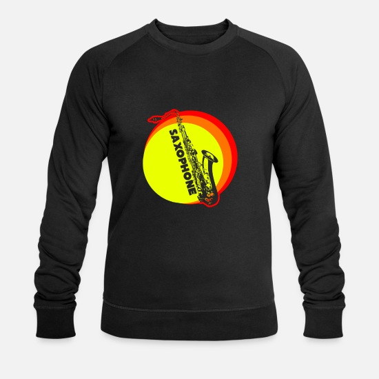 Gift Idea Hoodies & Sweatshirts - Saxophone saxophone T-shirt - Men's Organic Sweatshirt black
