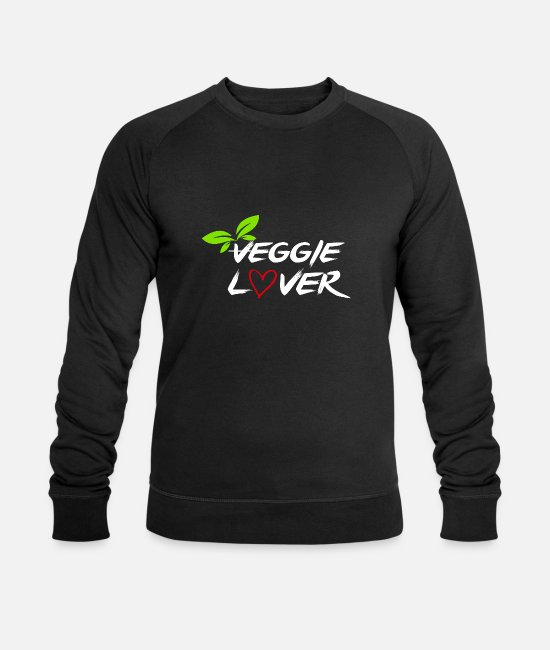 Rights Hoodies & Sweatshirts - Veggie Lover - Men's Organic Sweatshirt black