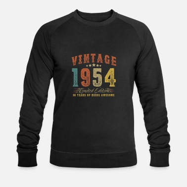 December Gift for 66th birthday vintage 1954 66 years - Men's Organic Sweatshirt