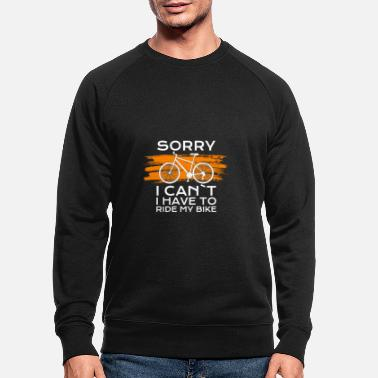 Bike Chrismas sorry i cant i have to ride my bike - Männer Bio Pullover