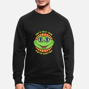 Insect Gecko Party Grappige Hagedis DJ - Mannen bio sweater