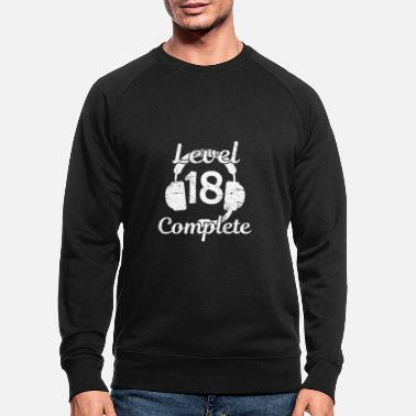 Level 18 Complete Zocken 18 Verjaardagscadeau - Mannen bio sweater