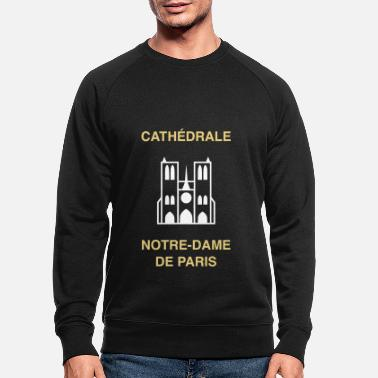 Bell ★ design colors changeable ★ Cathédrale Notre-Dame .. - Men's Organic Sweatshirt