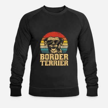 Retro Border Terrier Dog Puppy Retro grappige cadeau - Mannen bio sweater