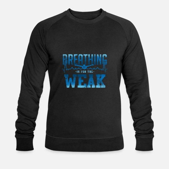 Diving Hoodies & Sweatshirts - Swimming breathing - Men's Organic Sweatshirt black