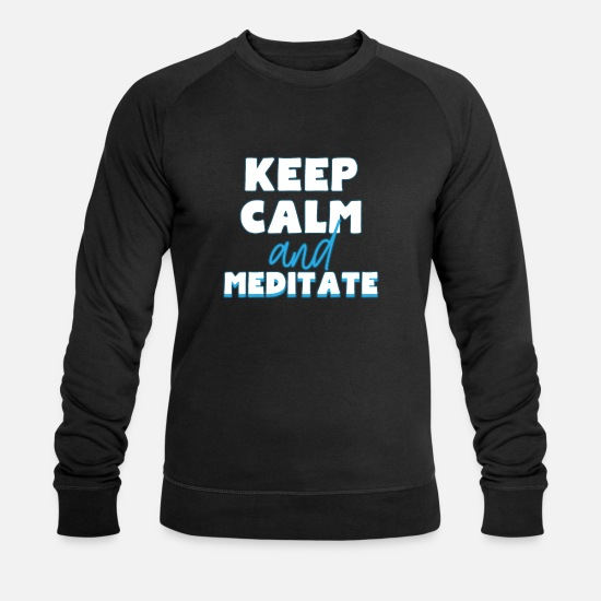 Méditation Sweat-shirts - méditation - Sweat-shirt bio Homme noir