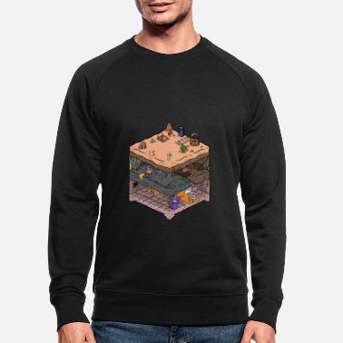 Gamer Isometric video game dungeon - Men's Organic Sweatshirt