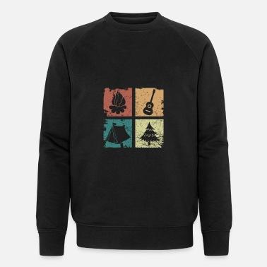 Camping Zelten Lagerfeuer Gitarre Wald Geschenk Männer Premium T Shirt Schwarz
