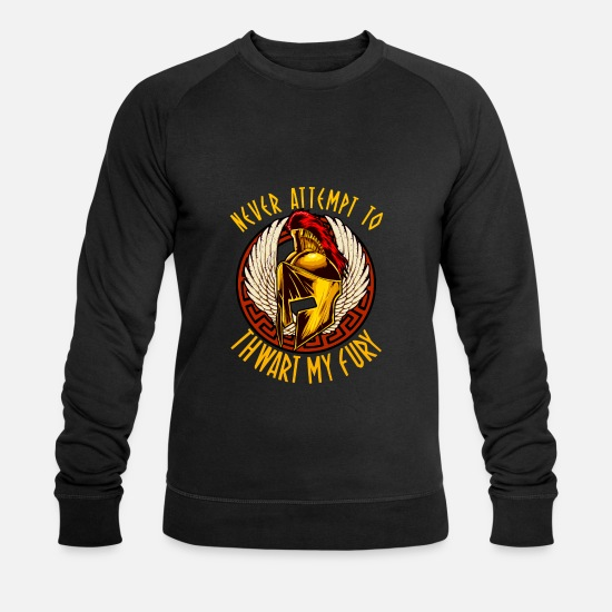 Spartans Hoodies & Sweatshirts - Never Attempt To Thwart My Fury Self Confidence - Men's Organic Sweatshirt black