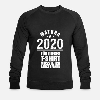 Matura 2020 long learning drôle disant - Sweat-shirt bio Homme