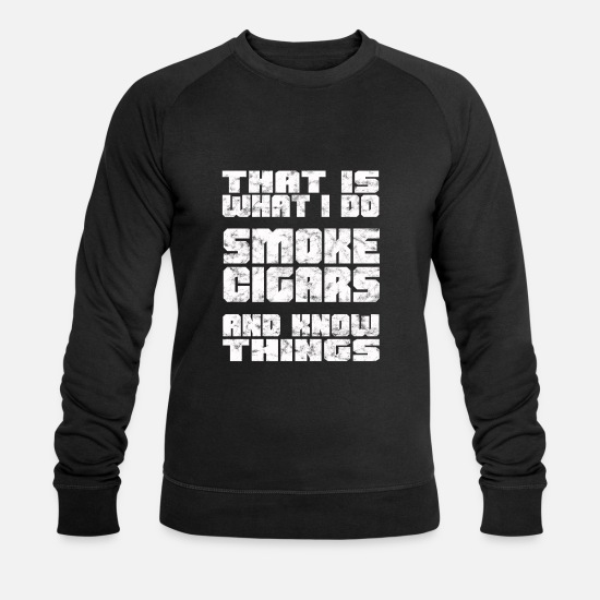 Birthday Hoodies & Sweatshirts - Cigars Series Thrones Dwarf Gift Smoking Fan - Men's Organic Sweatshirt black