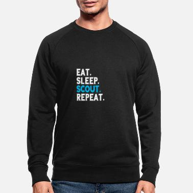 Eat Eet Sleep Scout Repeat Scout Camping Gift - Mannen bio sweater