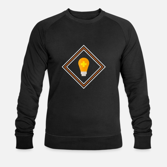Love Hoodies & Sweatshirts - Idea! - Men's Organic Sweatshirt black