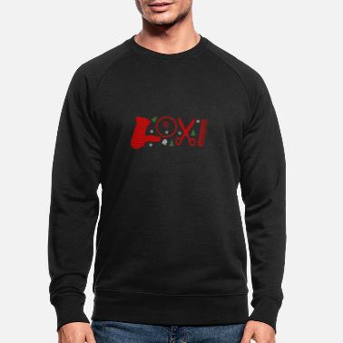 Haircutter Barber Salon T-Shirt Gift LOVE - Men's Organic Sweatshirt