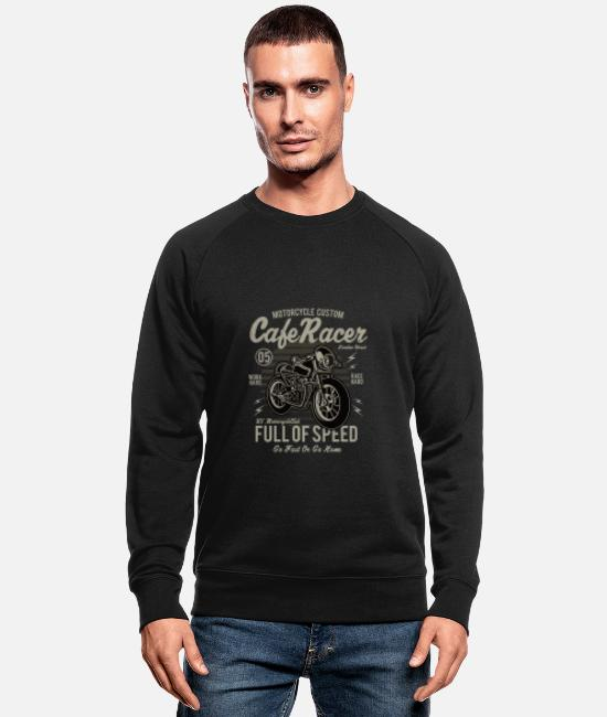 Auto Sweaters & hoodies - Cafe Racer - Mannen bio sweater zwart