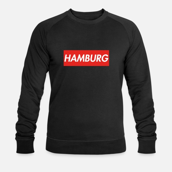 Hamburger Sweat-shirts - Hambourg - Sweat-shirt bio Homme noir