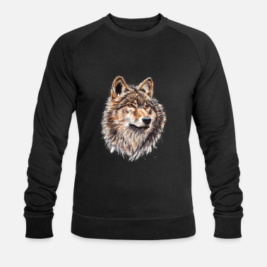 Wolf Painting - Men's Organic Sweatshirt