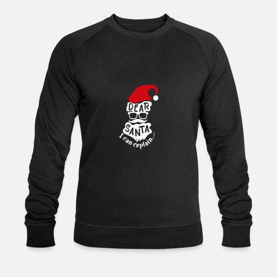 Christmas Hoodies & Sweatshirts - Christmas Dear Santa I can explain gift idea - Men's Organic Sweatshirt black