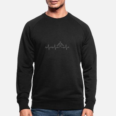 Avion Heartbeat Heartbeat Avion Avion Voyage volant - Sweat-shirt bio Homme
