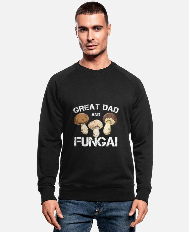 Fungal Hoodies & Sweatshirts - Mushroom Picker Shroom Mushrooming Botany - Men's Organic Sweatshirt black
