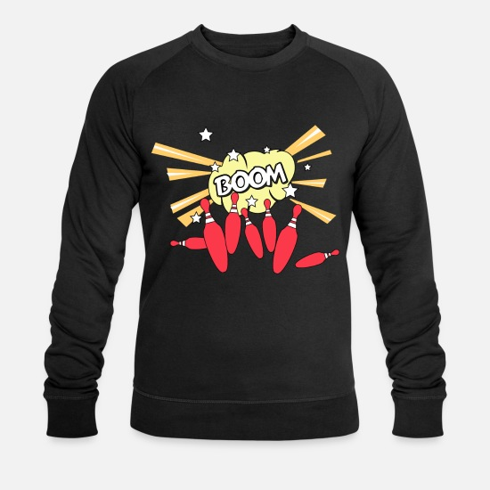 Ligue De Bowling Sweat-shirts - Strike Bowling - Sweat-shirt bio Homme noir