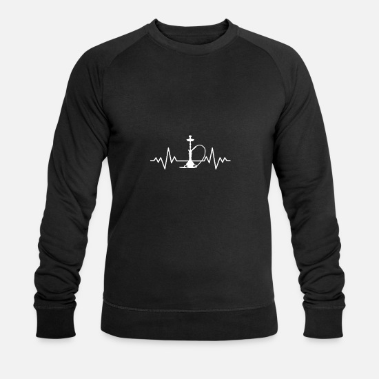 Love Hoodies & Sweatshirts - Shisha beats - Men's Organic Sweatshirt black