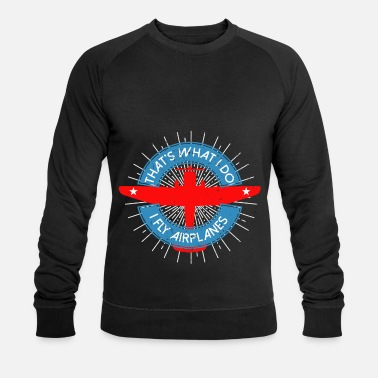 Transport Pilot Pilot helicopter transport plane gift - Men's Organic Sweatshirt