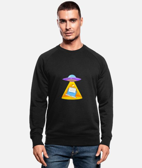 Laptop Hoodies & Sweatshirts - UFO - Men's Organic Sweatshirt black