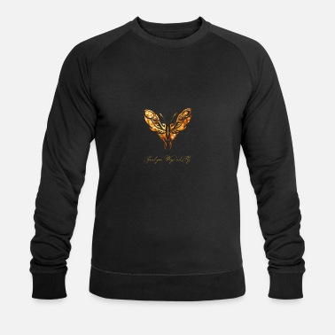 Or papillon en direct romantique mouche sort fille - Sweat-shirt bio Homme