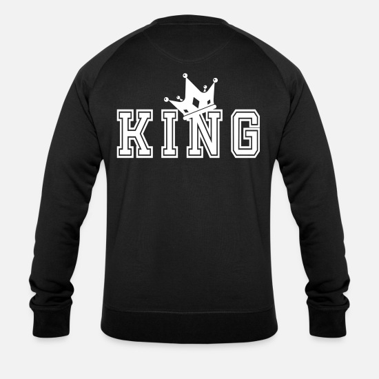 King Queen Sweat-shirts - King Motif Complémentaire Pour Couples - Sweat-shirt bio Homme noir
