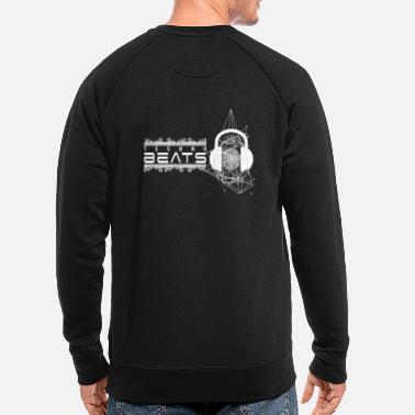 Deejay Platine vinyle Deejay Beats by Techno White - Sweat-shirt bio Homme