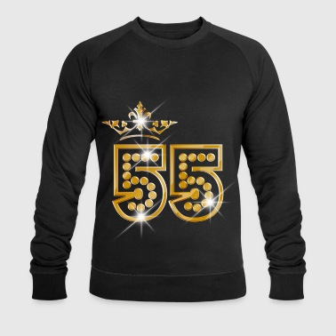 55 - Birthday - Queen - Gold - Burlesque - Men's Organic Sweatshirt by Stanley & Stella