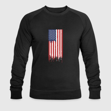 USA American flag - Men's Organic Sweatshirt by Stanley & Stella