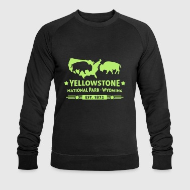 Bison Buffalo Parc national de Yellowstone Wyoming USA - Sweat-shirt bio Stanley & Stella Homme