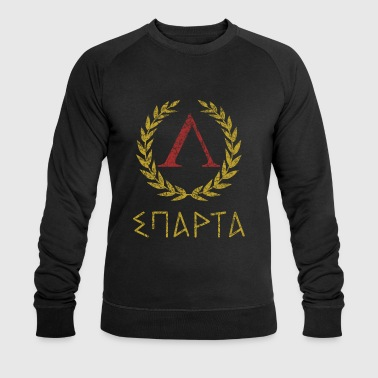 SPARTA IN GREEK - Men's Organic Sweatshirt by Stanley & Stella