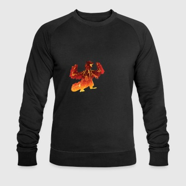 Monster Hunter Dragon Red Lava - Men's Organic Sweatshirt by Stanley & Stella