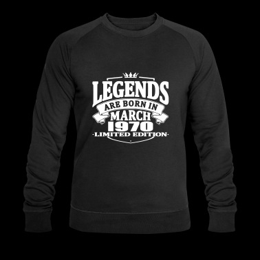 Legends are born in march 1970 - Men's Organic Sweatshirt by Stanley & Stella