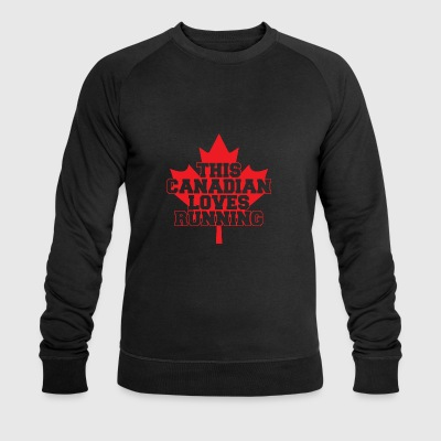 03 this canadian loves running copy - Men's Organic Sweatshirt by Stanley & Stella