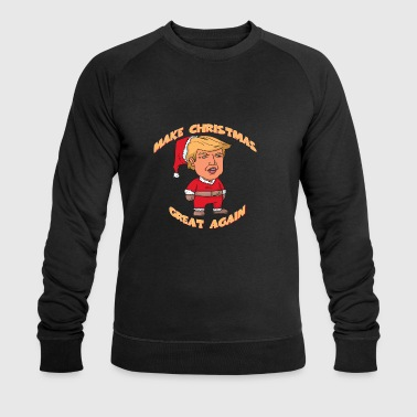 Christmas trump Santa Claus - Men's Organic Sweatshirt by Stanley & Stella
