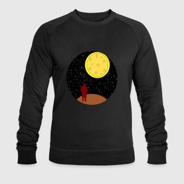man stairing at moon - Men's Organic Sweatshirt by Stanley & Stella