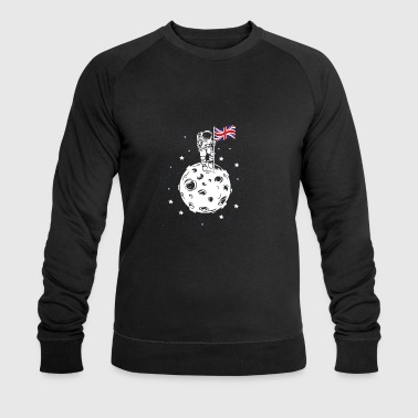 Astronaut with British flag on the moon - Men's Organic Sweatshirt by Stanley & Stella