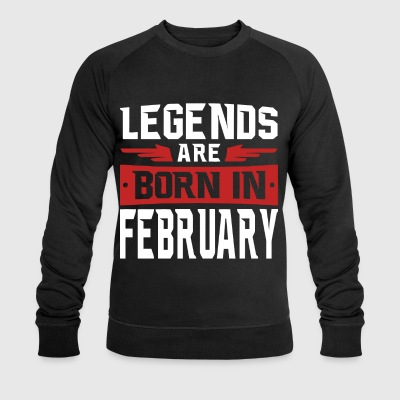 Legends are born in February - Men's Organic Sweatshirt by Stanley & Stella
