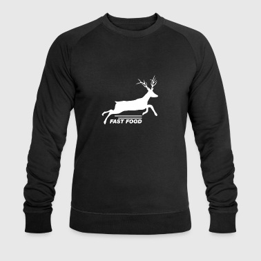 Fast Food Deer T-Shirt - Funny Anti Vegan Hunting - Men's Organic Sweatshirt by Stanley & Stella