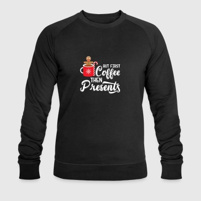 But First Coffe Then Presents Gingerbread Man Cook - Men's Organic Sweatshirt by Stanley & Stella