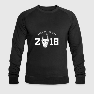 Pinscher 2.018 ans du don de chien Nouvel An - Sweat-shirt bio Stanley & Stella Homme