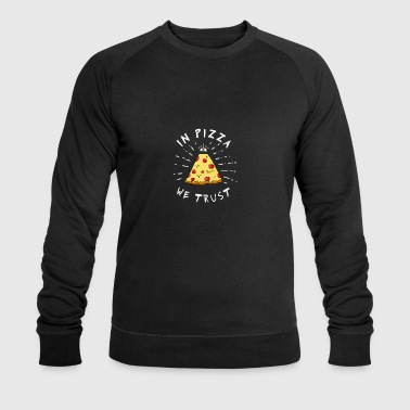 Pizza Illuminati Funny All Seeing Eye Food Humor - Men's Organic Sweatshirt by Stanley & Stella