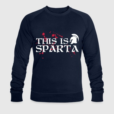 This is Sparta - Spartanier - Greece - helmet - Men's Organic Sweatshirt by Stanley & Stella
