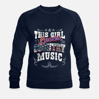 Girl who loves country music - Men's Organic Sweatshirt by Stanley & Stella